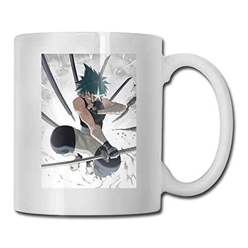 Soul Eater Black Star Anime - Taza de café 3D de cerámica, taza de té de porcelana, ideal para regalos familiares de 330 ml de capacidad
