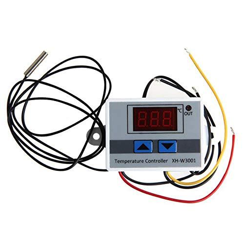 Timagebreze Interruptor de Temperatura del Termostato Digital XH-W3001, Controlador de Temperatura del Microordenador, Interruptor de Control de Temperatura