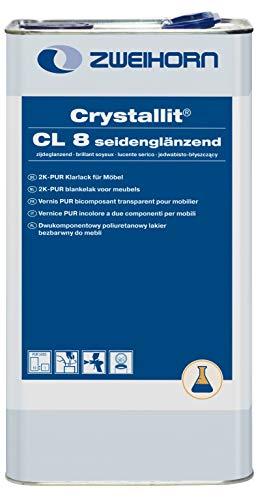 Zweihorn Crystallit 2K-PUR Klarlack CL 8 seidenglänzend (5 Liter)