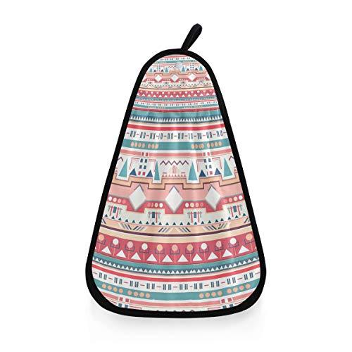 Serviette à Main Ultra Doux Gant de Toilette Polyvalent coloré Vintage Ethnique Tribal présent Bain très Absorbant
