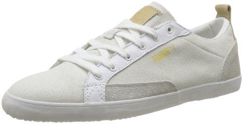 PUMA Slim Court Citi Series, Chaussures de Ville Homme - Blanc (White/Gold), 41 EU