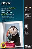 Epson Premium Glossy Photo Paper - Papel fotográfico brillante, 15 hojas