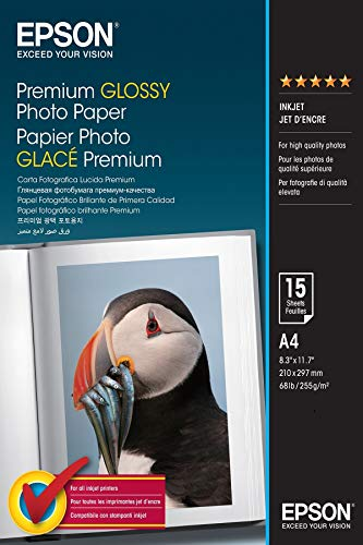 Epson - EPS042155 - Premium Glossy Photo Paper - A4 - 210 x 297 mm - 15 Feuilles