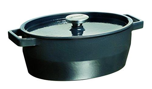 Pyrex Slow Cook - Cacerola De Hierro Fundido Oval, 29 Cm, 3,8 L, Todos Los Fuegos