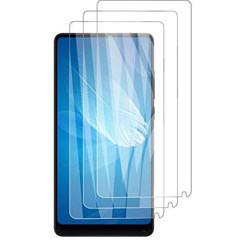 PUUDUU [3 Pack Protector de Pantalla para Xiaomi Mi Mix 2, Sin Burbujas, Anti-Rasguños, HD Transparente,Cristal Templado Protector de Pantalla para Xiaomi Mi Mix 2
