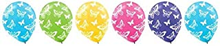 Butterfly Print Latex Balloons | Pack of 6 | Party Decor