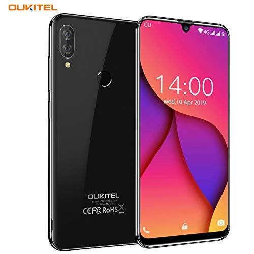 OUKITEL C16 Pro Smartphone ohne Vertrag Günstig, 4G Dual SIM Android 9.0 Handy,3GB RAM 32GB ROM 128GB erweiterbar, 5,71 Zoll 19:9 Bildschirm,8MP Kamera,2600 mAh Akku, Face/Fingerabdruck GPS -Schwarz