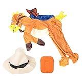 【COSTUME DI COWBOY DIVERTENTE】 Questo costume gonfiabile è un divertente set da cowboy, compresi i vestiti e un cappello.Vai al galoppo alla tua altra festa in costume in questo costume da cowboy a cavallo, sarai i ragazzi brillanti. 【FACILE DA GONFA...