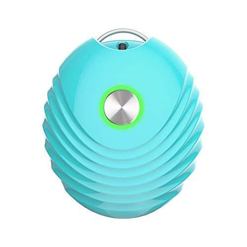 HXML Personalisiert Kette Halskette Anhänger Persönliche Tragbare Luftreiniger Halskette Mini Tragbare Lufterfrischer Ionisator Negative Ionen Generator Geräuscharm Für Familie,Blau