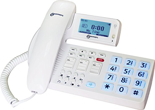 Geemarc oCean400 Fototasten schwerhörigen/schwersehenden Seniorentelefon mit Sprachansage und Notruftaste Deutsche Version