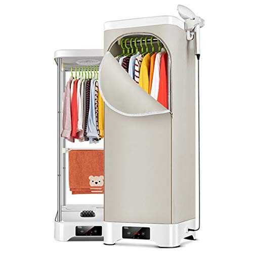 Secadora de ropa y máquina de planchado, percha de elevación plegable de doble capa Aire caliente de