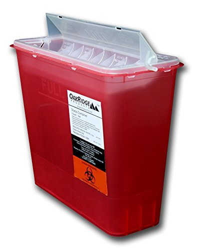 5 Quart Size | OakRidge Products Sharps Disposal Container | TouchFree Disposal