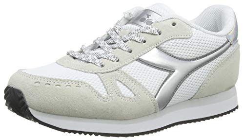 Diadora Simple Run Wn, Oxford Plano Mujer, Blanco, 37 EU