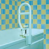 Homecraft Sturdy Bath Tub Grab Bar, Clamp On Rail for Bathtub, Elderly Living Assist Tool for Shower or Bath, At Home Bathroom Safety Attachment Handle for Obese, Disabled, Injured, or Post-Op -
