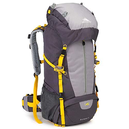 High Sierra Summit Top Load Internal Frame Pack, Mercury/Ash/Yell-O, 45L