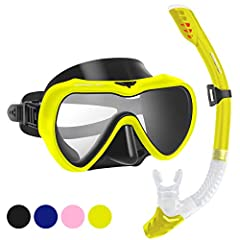 This snorkel set is great for outfitting the whole family. With a variety of different colors you are sure to find something for the whole family. Snorkel mask comes with fully adjustable head straps and a high-grade silicon face skirt which molds to...