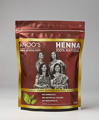 Anoos Henna Natural, 500 Gm