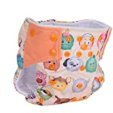 Baby Cloth Diaper, Knitted Flat Printed Fabric Leak Proof Washable Cloth Diapers...