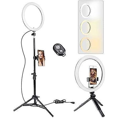 Stativ 2 in 1 Ger/ät f/ür Mobiltelefone Dimmbares LED-Make-up-Licht f/ür Live-Stream//YouTube//TikTok//Fotografie Witacles Ringlicht Videokonferenz-Beleuchtungsset mit Clip
