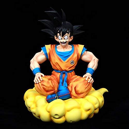 wwbfdc Figura De Anime Dragon Goku Sitting Pose Series Vol.1 Ball Son Anime Ver Edición Limitada 39Cm, Estatua De Resina Gk