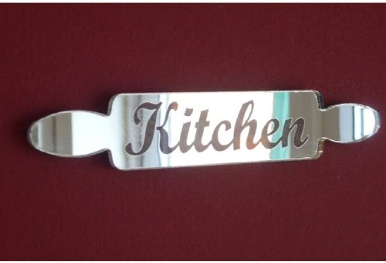 Kitchen Sign Rolling Pin Mirror - 35cm x 6cm