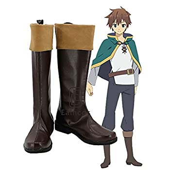 BELUNOT KonoSuba God s Blessing on This Wonderful World Kazuma Satou Cosplay Shoes Brown Boots Custom-Made 43 Male Size