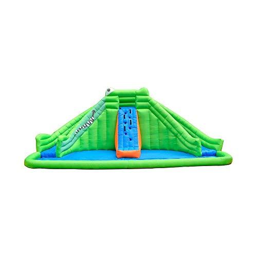 Zjcpow Casa de Rebote Inflable con tobogán de Agua Piscina de Agua Grande Castillo de cocodrilo Bouncy Parque de Escalada for Adultos y niños xuwuhz