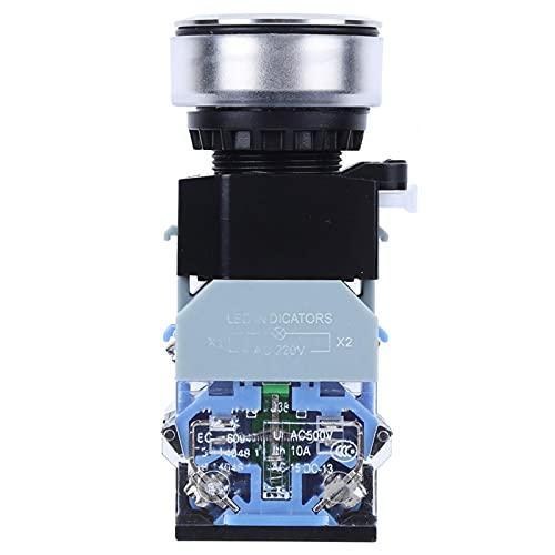 Interruptor de botón de luz Azul Resistente de plástico GQ38 para Uso Industrial(Reset, Pisa Leaning Tower Type)