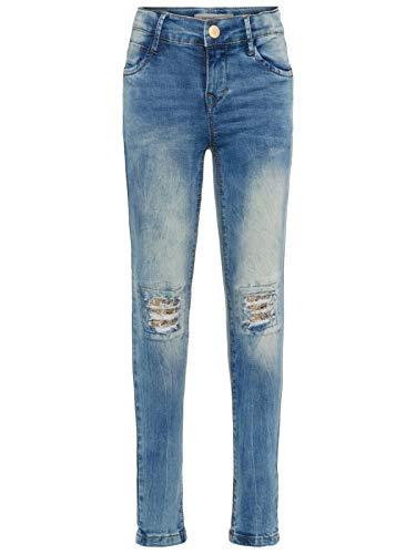 NAME IT Mädchen Jeans Destroyed Look mit Pailletten 128/8 Jahre