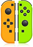 BESTSELLER2888 Joy Con (L/R) Controller Replacement for NS - Joy Pad Controllers for Nintendo Switch, Left and Right Controllers (Yellow/Green)