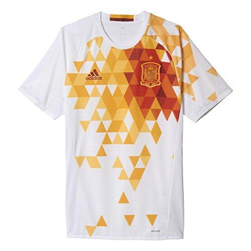 adidas Herren Shirt Kurzarm Auswärtstrikot UEFA Euro 2016 Spanien Authentic, White/Power Red F05, L