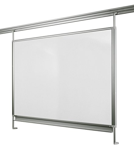 Legamaster 7-320071 Whiteboard für Legaline Dynamic Wandschienensystem, emailliert, 100 x 120 cm, eloxiertes Aluminium