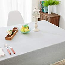 1pcs Waterproof Linen Coffee Restaurant Cotton Linen Dining Tablecloth Fabric Coffee Table Plain Square Tablecloth Anti-sc...