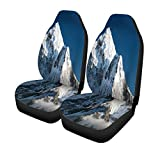 Pinbeam Car Seat Covers Beautiful View of Mount AMA Dablam Way to Everest Set of 2 Auto Accessories Protectors Car Decor Universal Fit for Car Truck SUV