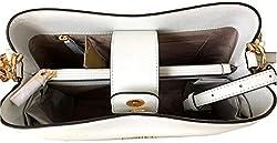Michael Kors Sofia Large Leather EW Satchel Shoulder Bag (Optic White)