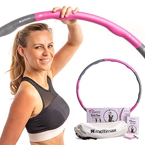 MELTIMAX® Hula Hoop Reifen 1,2kg   Gymnastikreifen 100cm Durchmesser   Hochwertiger Hoola Hoop Reifen Erwachsene   Hullahub Reifen zum Amnehmen   Fitnessreifen inkl. Tragetasche und Kühlhandtuch
