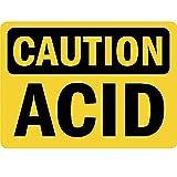 HONGXIN Caution Acid - Cartel de metal vintage para decoración de casa, bar, pub, garaje, banda, cerveza, huevos, café, supermercado, granja, jardín, dormitorio