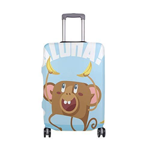 ALINLO Tropical Aloha Monkey Banana Maleta Equipaje Cubierta Equipaje Maleta Protector de Viaje Para 45-32 Pulgadas, multicolor (Multicolor) - sdv5541642bbxvb