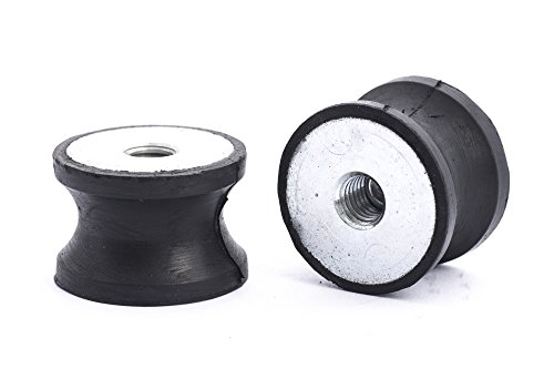 10 Stck Gummipuffer Gummimetallpuffer Typ D /Ø 40 mm H/öhe 30 mm einseitig Gewinde M8x23 mm andere Seite geschlossen Shoreh/ärte 55/° Metallteile verzinkt