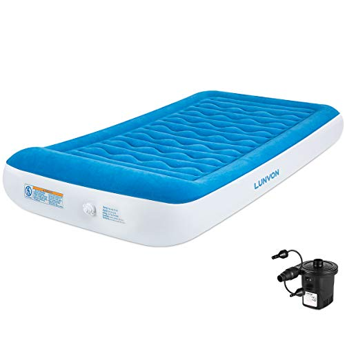 Lunvon Twin Air Mattress for Home and Camping Self...