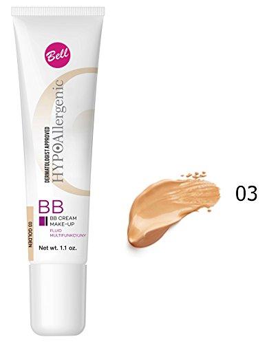 Bell hipoalergénico BB Crema Maquillaje Líquido Multi–funcional 03Golden 30G/G..