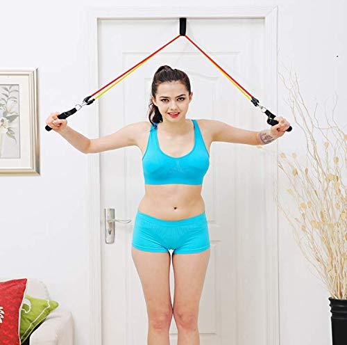 Physical Therapy Pulley Shoulder Pulley Training Straps Forearm Strength Exerciser Portable Home Training Straps Fitness Over Door Pulley Home Gyms Fitness Equipment Trainer Kit Indoor Outdoor Gym