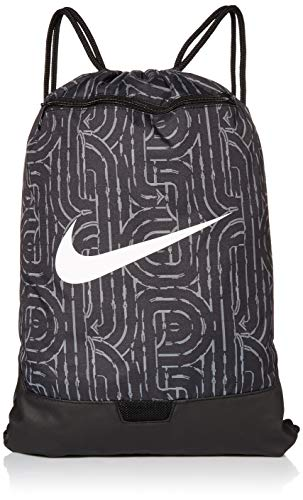 Nike Nike Brasilia Gym Sack - 9.0 All Over Print, Black/Black/White, Misc