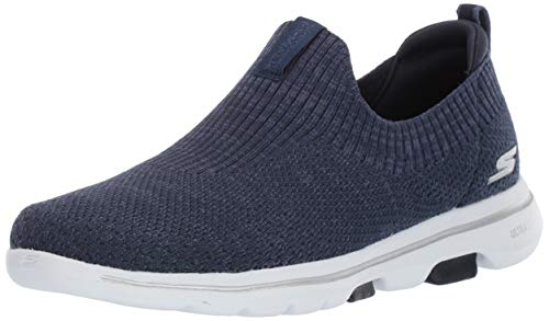 Skechers Women's GO Walk 5-15952 Shoe, Navy/White, 13 M US