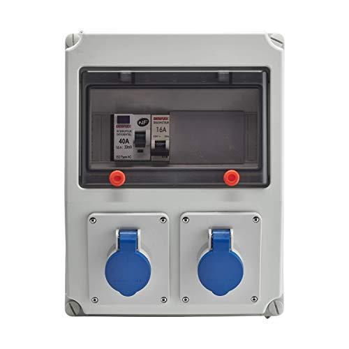 Debflex 707694 - Cuadro eléctrico (con disyuntor, interruptor diferencial y enchufe 2P+T) ci