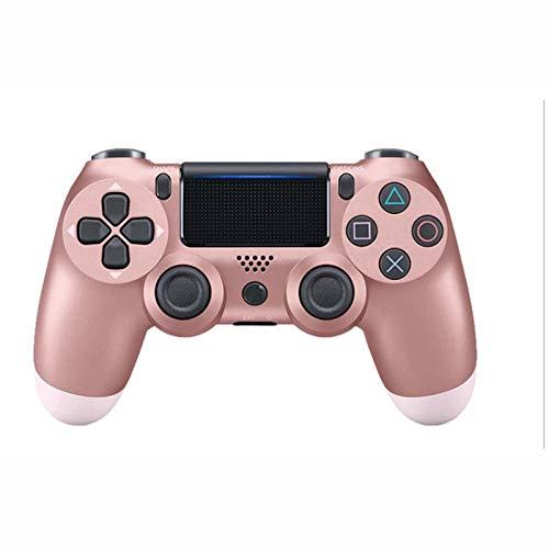 FLLKIHH Mando inalámbrico para PS4 Remote para Playstation 4 con Cable de Carga y Doble Descarga,Rosado