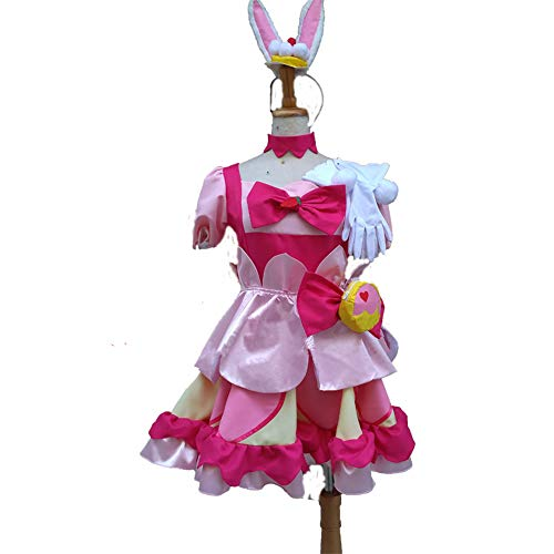 Full Set KiraKira Cosplay Costume Pretty Cure A La Mode Cure Whip Usami Ichika Cosplay Costume (Female M)