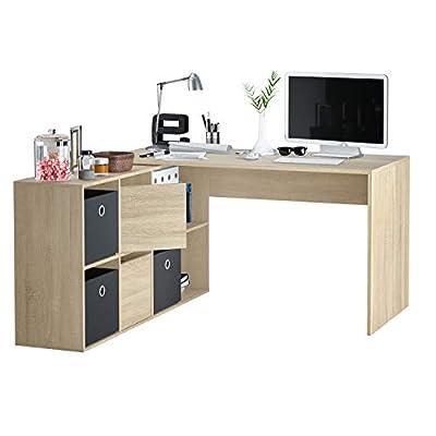 La mesa de estudio multiposición Adapta XL es una mesa de oficina o escritorio de líneas depuradas y formas sencillas pero muy práctico. Mesa reversible, te permitirá montar el módulo de almacenaje (baldas y puertas) a derecha o izquierda, de cara o ...