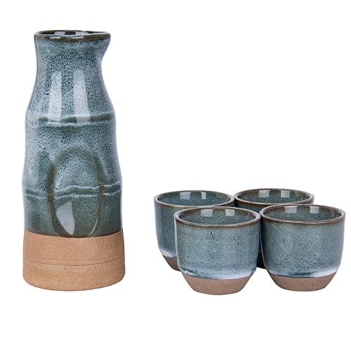 LOOPIG Janpanese - Juego de ollas de cerámica pintada a mano con forma de sake