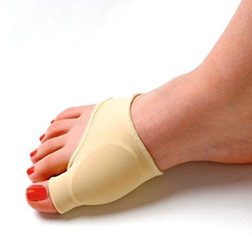 Pixnor Durable avec gel élastique doublé Protecteur juanete juanete manches orteil séparateur Correcteur Pad